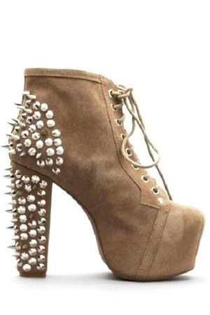 jeffrey campbell lita spike boots jeffrey campbell lita spike taupe suede by 6foot7shoes. Black Bedroom Furniture Sets. Home Design Ideas