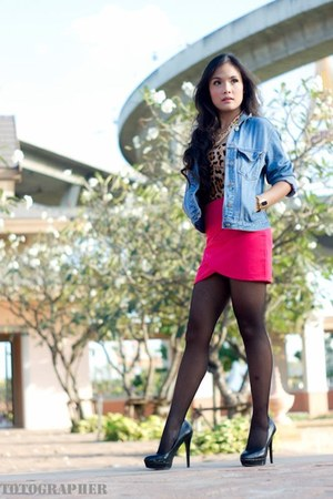 Hot Pink Skirts Sky Blue Jeans Black Heels Quot Bkk Quot By
