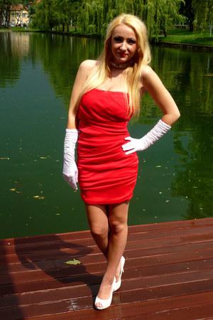 white gloves red terranova dresses white heels quotprom