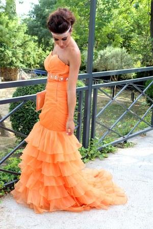 Carrot orange lightinthebox dresses wedding by for In the light box wedding dresses