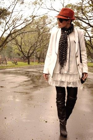 Zara Hats, Black Via Marte Boots, White LMNTS Jackets ...
