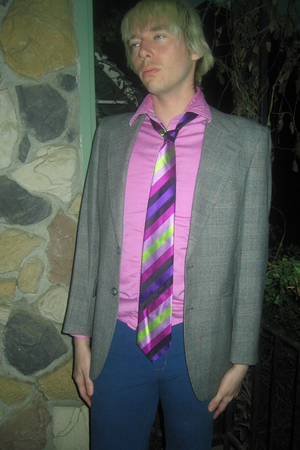 Men's Pink Kenneth Cole Shirts, Purple BCBG Ties, Gray ...