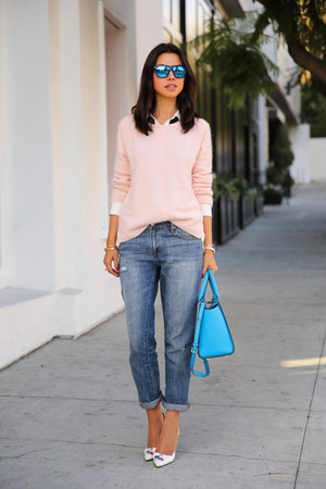 Sky Blue Michael Kors Bags Navy Gap Jeans Light Pink
