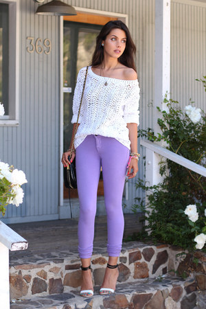 Off White Dkny Sweaters Light Purple Denimocracy Jeans