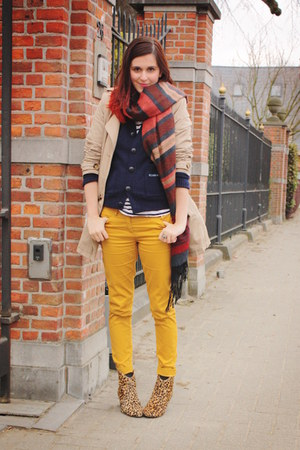 Gold Jeans Mustard Skinnies By Annebeth Chictopia