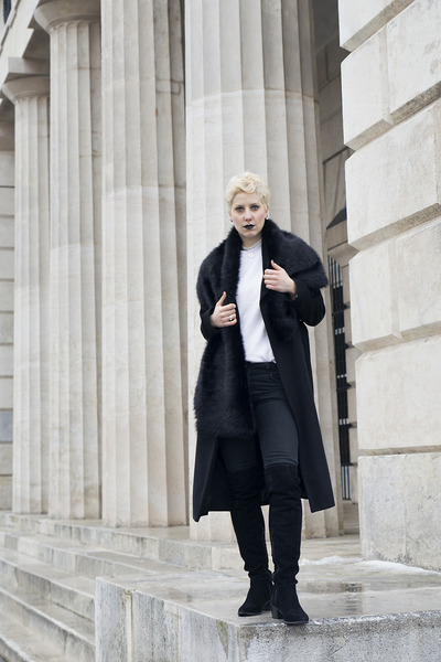 Black long coat