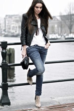Beige Leopard Boots Blue Curve Id Levis Jeans Black