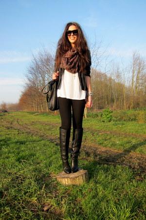 Black Zara Jackets Black Zara Boots Black H Amp M Trend