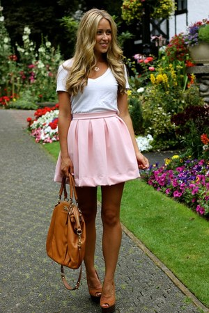 Light Pink A Line Windsor Store Skirts, Camel Wedges Shoemint ...
