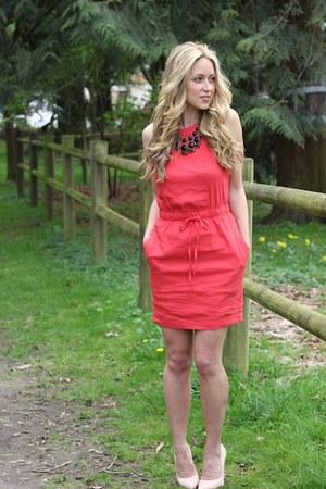 Hot Pink Linen Bebe Dresses Neutral Veronique Shoe Mint
