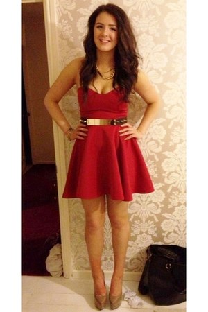 Asos Belts- Red Ebay Dresses- Nude Ebay Heels - &quot-Sophisticated ...