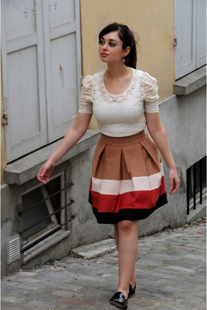 White Forever 21 Tops Hot Pink Zara Skirts Black Repetto