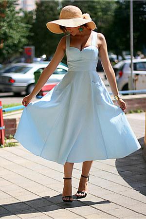 Light Blue 50s H Amp M Dresses Black Zara Shoes Random Brand