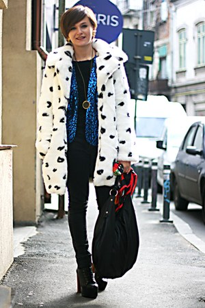 Blue Leopard Print Vintage Blazers Black Litas Jeffrey