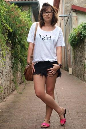 White Mango Ts Shirts Black Insight Shorts Hot Pink