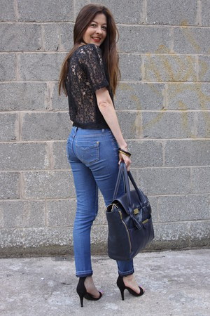 Jeans And Black Top - Xtellar Jeans
