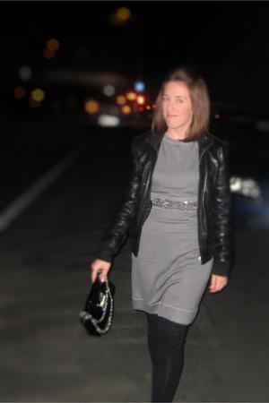 df49b13fba Gray Liu Jo Dresses, Black Jackets, Black Blumarine Purses, Black H&M  Leggings |