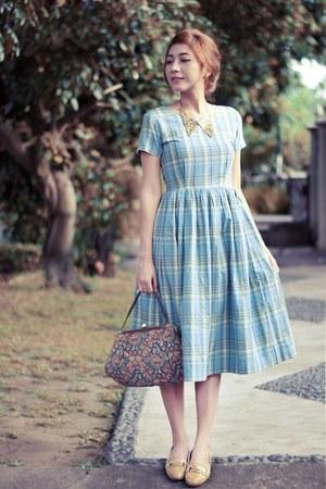 Sky Blue Plaid Vintage Anna Periska Dresses Crimson Vintage Liz Claiborne Bags | u0026quot;Vintage Plaid ...