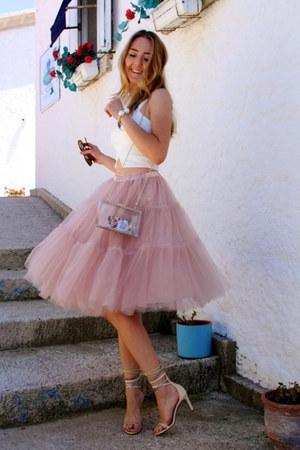Light Pink Tutu Chicwish Skirts White Transparent Vjstyle