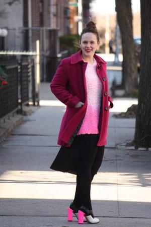 Hot Pink Topshop Heels, Magenta Wool Coats, Bubble Gum Topshop ...