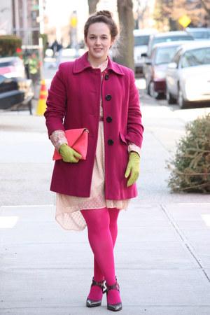 Salmon Leather Jcrew Bags Peach Chiffon Zara Dresses