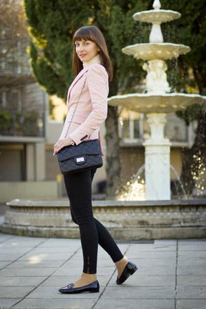 Black Patent Leather Prada Loafers Black Skinny Jeans