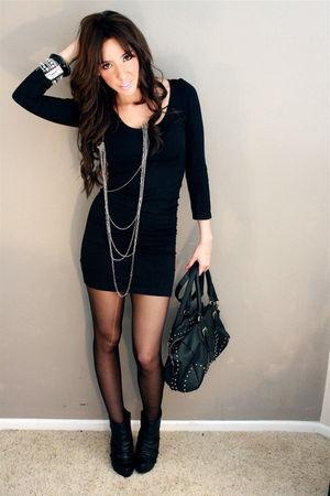 Black American Apparel Dresses Black Tights Silver
