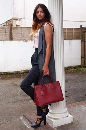large red prada purse