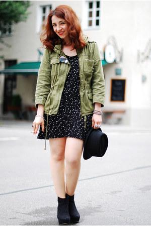 Black Star Printed Zara Dresses Olive Green Military Zara Jackets | u0026quot;Stars u0026 militaryu0026quot; by Esra ...