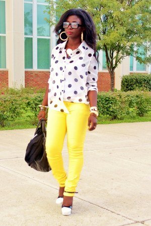 White Polka Dots Forever 21 Shirts Black Diy Aldo Shoes
