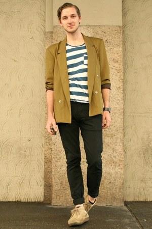 Men S Vintage Blazers Wallabees Clarks Boots Black Levis