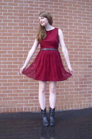 Maroon Lace Lulus Dresses Black Western Charlotte Russe