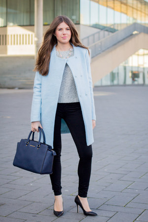 Sky Blue Zara Coats Heather Gray H Amp M Sweaters Navy