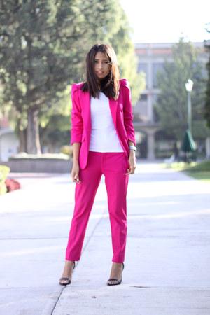 Hot Pink Zara Blazers Hot Pink Zara Pants Black Zara
