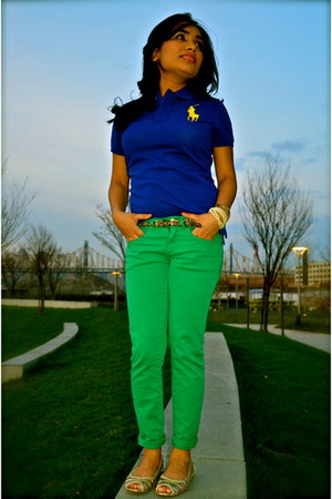 "Blueyellow Polo Tops, Green Zara Pants | ""Color Me Green"" by ..."