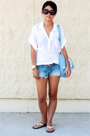 White Shirts Light Blue Jeans Sky Blue Bags | u0026quot;My Latest Favorite Sunniesu0026quot; by HEIDI_CHEN ...