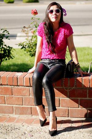 Hot Pink Embroidered Zara Tops Beige H Amp M Sunglasses