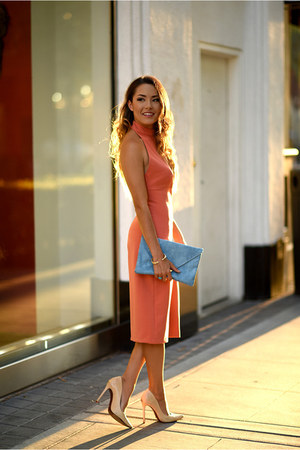 "Salmon On Sale >> Schutz Shoes, Salmon Similar Zara Dresses, Sky Blue Asos Bags | ""Mixing It Up"" by HapaTime ..."