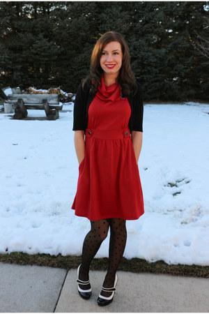 Modcloth red polka dot dress
