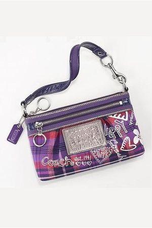 coach clearance outlet online 9p04  purple coach poppy purse