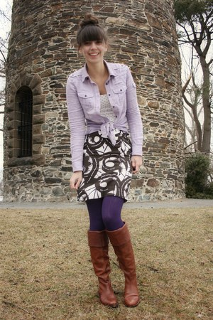Brown Vince Camuto Boots Light Purple Gap Shirts Purple