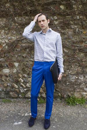 Men S Blue H Amp M Pants Navy Zara Shoes Sky Blue Jeff Banks