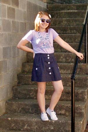 Blue Forever 21 Skirts Purple American Apparel Ts Shirts