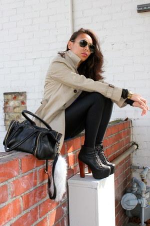 Black Jeffrey Campbell Shoes Beige Trench Coat Zara Coats
