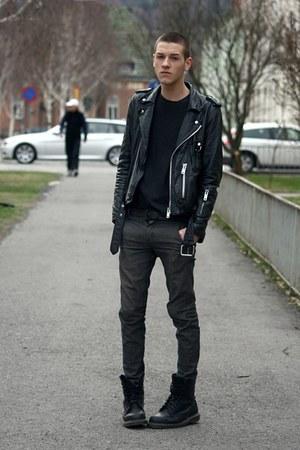 Dark Grey Skinny Jeans Men