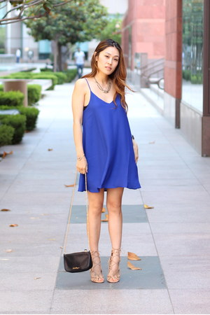 Blue PUBLIK Dresses Beige Shoemint Heels JewelMint Necklaces ...