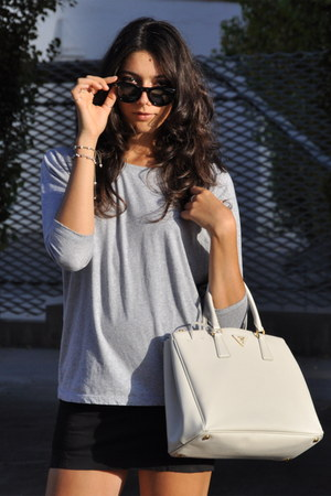 choice designer bags - white-prada-bag-black-celine-sunglasses-black-pierre-balmain-skirt.jpg