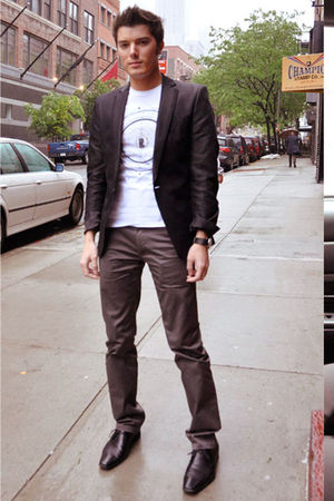 mens black zara blazers white zara shirts black aldo