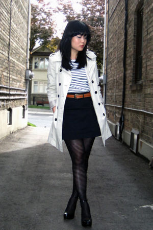 Beige Trench Zara Coats Black Aldo Shoes White Worn As