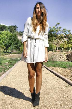 White Zara Dresses Black Cowboy Boots Elite Boots